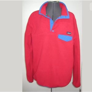 PATAGONIA SYNCHILLA PULLOVER RED SNAP-T TOP XL